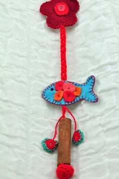 Felt Ornament Hanging Ornament Needle Art by ForGoodPeople on Etsy, $20.00