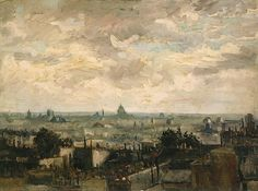 Vincent van Gogh - View of Paris at Van Gogh Museum Amsterdam