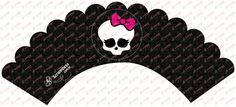 Arte Digital - Monster High Cupcake #1 | Festas Personalizadas | Lembrancinhas | Scrap Festa | Scrappiness Designs