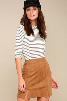 1e3cdc9a00 13 Fascinating Tan suede skirt images