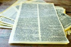 Instantly antiquing and preserving, hand-dipped beeswax paper adds character to an ordinary dictionary page. Beeswax paper, $2.50