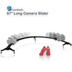 5. LimoStudio Camera & Camcoder Slider 67″ Long 180 Degree 1/2 Round Circle Dolly Smooth Track for Video & Image Shoot, Photography Studio, AGG1837