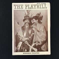 Vintage Theatre Playbill from Sept. 4, 1939, a musical review by the I. L. G. W. U. Pins and Needles 1939 Featured acts such as Public Enemy No. 1 and Mussolinis Handicap The Windsor Theatre Collectible theater playbill with cast information, vintage advertising. Filled with very cool vintage ads for cigarettes, liquor, fashion and cars Condition: Very good vintage condition. There are two pages that have been cut out. I dont know what they are but I suspect they may have something to do…