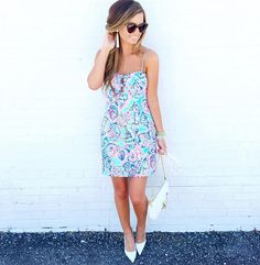 Via @meganrunionmcr Instagram- Lilly Pulitzer Petra Dress in Shell Me About It #SummerinLilly