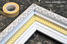 Washi Tapes used on picture frame