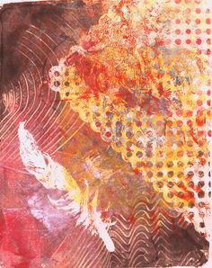"""""""Feather Balance"""" original acrylic monotypes by Sharon Giles Printmaking, Feather, The Originals, Abstract, Artwork, Prints, Painting, Summary, Quill"""