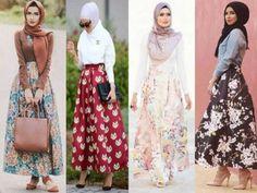 puffy maxi skirt- Muslim women hijab trends http://www.justtrendygirls.com/muslim-women-hijab-trends/