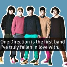 It actually is. I like to listen to music and i like to learn about the artists but never in my entire life have i ever loved everything about a band. i love one direction.