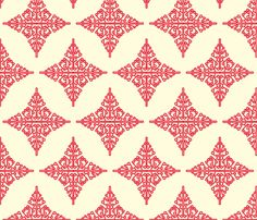 Red snowflake fabric by Holli Zollinger on Spoonflower.  I'd prefer blue and white, of course.