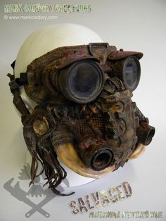 Post Apocalypse Wasteland gas mask and goggles for LARP and Airsoft. Made by Mark Cordory Creations. Commission enquiries always welcome @ www.markcordory.com