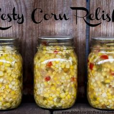 Zesty Corn Relish - Would be great with carnitas! (Oh, I miss Sloughhouse corn) Canning Corn, Canning Pickles, Canning Tips, Home Canning, Canning Recipes, Corn Relish Recipes, Corn Recipes, Veggie Recipes, Recipies