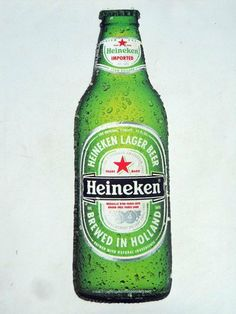 """Heineken 23 Inch Raised Metal Bar Sign by Heineken Brewery. $32.95. 23  """" tall x 7 """" wide. High Grade Flex Steel. Sign has pre-drilled mounting holes, and unused sticky pads on back.. Raised and Stamped Metal. Great for the Commercial bar , Homebar, or Dorm Room. Makes a great gift for the Heineken lover!"""