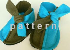 baby booties pattern - super easy sewing tutorial