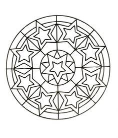 Anti stress Mandala with little stars - Mandalas with Geometric patterns - Mandalas Zen & Anti-stress Geometric Coloring Pages, Star Coloring Pages, Dragon Coloring Page, Mandala Coloring Pages, Free Printable Coloring Pages, Adult Coloring Pages, Coloring Pages For Kids, Coloring Books, Colouring
