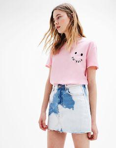 T-shirt met tekst - T- Shirts - Bershka Netherlands