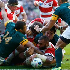 Two point game at half time between @bokrugby & Japan 12-10. Thrilling second half underway #RSAvJPN #RWC2015
