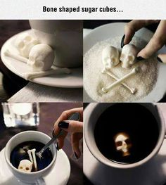 Most sugar cubes are boring, this skull and crossbones version is not.