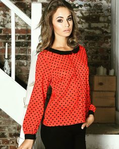 Tops at Jerros Polka Dot Top, My Style, Tops, Women, Fashion, Moda, Fashion Styles, Fashion Illustrations, Woman