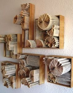 book page wall décor