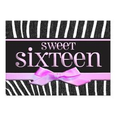 Sweet Sixteen Custom Invitations.  $2.30