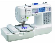 Brother Combination Computerized Sewing and Embroidery Machine With 67 Built-in Stitches, 70 Built-in Designs, 5 Lettering Fonts - - The computerized combination embroidery and sewing machine is design Embroidery Machine Reviews, Brother Embroidery Machine, Computerized Embroidery Machine, Sewing Machine Embroidery, Sewing Machine Reviews, Sewing Stitches, Embroidery Applique, Embroidery Patterns, Embroidery Machines