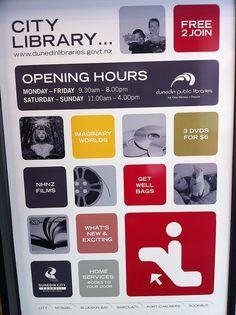 Dunedin Public Library signage branding