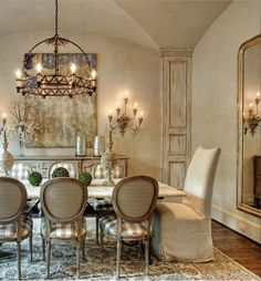 55 Lasting French Country Dining Room Furniture Decor Ideas - Home French Country Dining Room, French Country House, Country Style, Country Blue, French Cottage, Country Living, French Decor, French Country Decorating, Dining Room Design