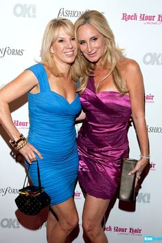 Ramona Singer and Sonja Morgan add spice to OK! Magazine's 5th Annual Fashion Week Celebration at Cielo.