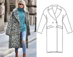 Duster Coat, Fur Coat, Oversized Coat, Sewing Patterns, Vest, Womens Fashion, Jackets, Down Jackets, Women's Fashion