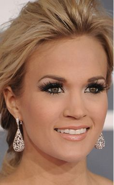 All the Gorgeous Grammys Makeup Up Close - People still mention Carrie Underwood's make up for the grammys as a top wedding make up look – - Makeup Tips, Beauty Makeup, Hair Makeup, Hair Beauty, Makeup Products, Eye Makeup, Beauty Products, Makeup Ideas, Prom Makeup
