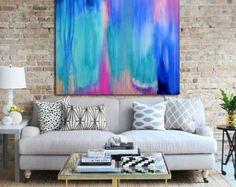 Arte impresión impresión de Giclee abstracto arte por Artzaro
