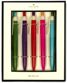 New Kate Spade Pen Set, $20.00 (http://www.purseladytoo.com/kate-spade-pen-set/)