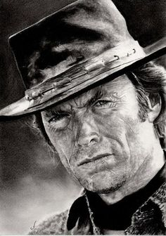 Clint EASTWOOD by pencil artist Corinne