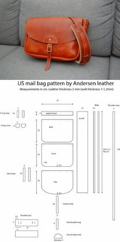42 Best Ideas For Sewing Bags Leather Leather Bags Handmade, Handmade Bags, Leather Craft, Sacs Tote Bags, Leather Working Patterns, Leather Wallet Pattern, Bag Patterns To Sew, Leather Projects, Leather Accessories