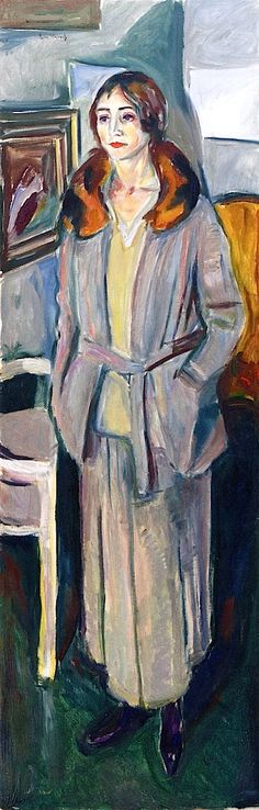 Woman in Grey Edvard Munch 1924-1925 (AFTER 19th Century Strength compared to window longing)