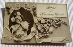 Antique French New Year Postcard  Cute Little Girl by ChicEtChoc, $4.50