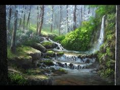 Paint with Kevin - Sunlit Oak Forest - YouTube