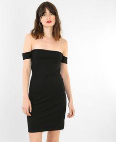 Robe bodycon col bardot - La robe moulante, un basique remis au goût du jour grâce à so...