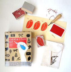 Poppytalk: NEW Carve-A-Stamp Kit from Yellow Owl Workshop