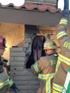 Hell hath no fury like a woman scorned - Crews rescue naked woman trapped in ex-lover's SoCal chimney
