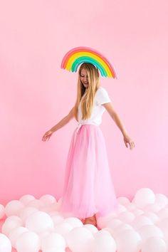 Rainbow Balloon Hats   Oh Happy Day!