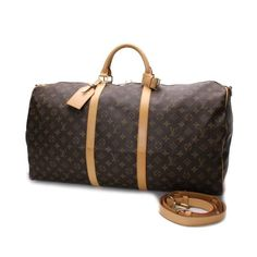 Louis Vuitton Keepall Bandouliere 60 Monogram Luggage Brown Canvas M41412