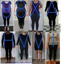 How to figure your body shape. With real examples. You may be surprised by what shape you really have..