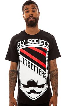 The F-16 Tee in Black by Fly Society