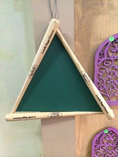 Baseball bats made into a diamond  With chalkboard  Www.facebook.com/whatworkz