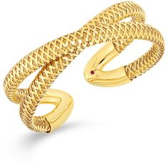 FLEXIBLE CUFF ❤ liked on Polyvore featuring jewelry, bracelets, gold cuff jewelry, gold bangles, gold jewellery, gold jewelry and yellow gold bangle