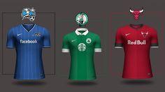 NBA/Soccer Jersey Mash-up Design. Read more at www.finesportsprints.com/journal #jersey #basketball #soccer Nba, Basketball, Posts, Journal, Blog, Design, Messages, Blogging