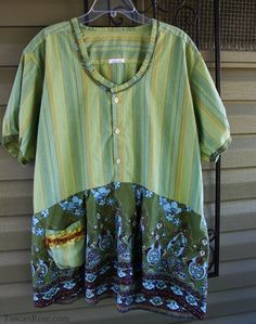 Olive Moroccan Tunic - Tattered Baby Doll - dress - top- upcycled bohemian reconstructed gypsy remade shirt - xxsmall to extra large. $65.00, via Etsy.