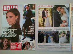 Boconnoc wedding featured in Hello magazine - www.boconnoc.com
