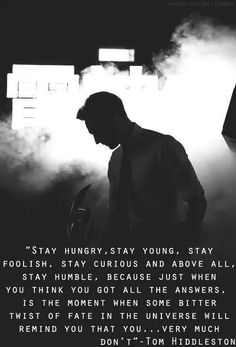 Stay hungry stay young